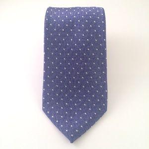 Perry Ellis Blue and White Dot Men's Tie